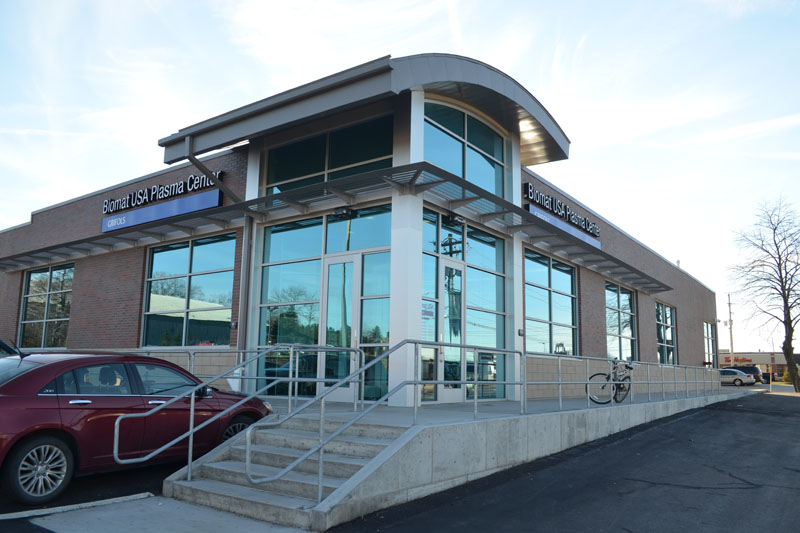 Biomat USA Plasma Center, Erie, PA - Standing Seam Metal Roofing, Soffit and Wall Panels by Alex Roofing Company, Inc.