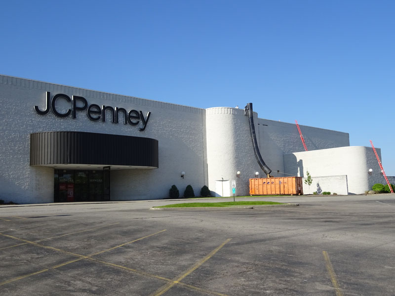 JC Penney Commercial reroofing project by Alex Roofing Company, Inc.