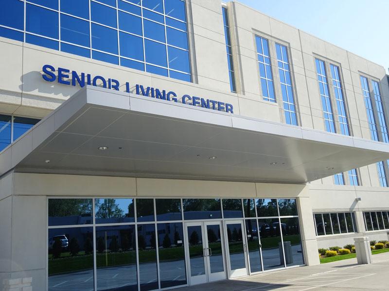 Millcreek Senior Center aluminum composite system by Alex Roofing Company, Inc.